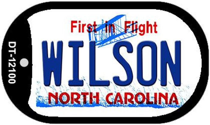 Wilson North Carolina State Wholesale Novelty Metal Dog Tag Necklace DT-12100