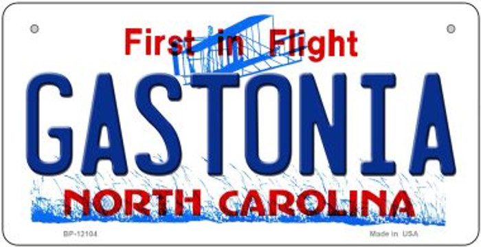 Gastonia North Carolina State Wholesale Novelty Metal Bicycle Plate BP-12104