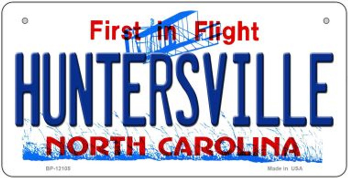 Huntersville North Carolina State Wholesale Novelty Metal Bicycle Plate BP-12105