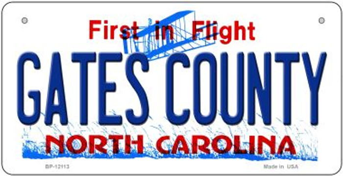 Gates County North Carolina State Wholesale Novelty Metal Bicycle Plate BP-12113