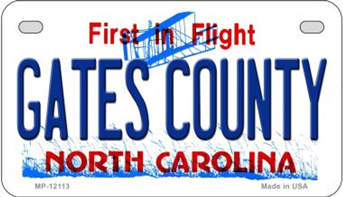 Gates County North Carolina State Wholesale Novelty Metal Motorcycle Plate MP-12113