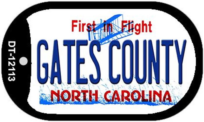 Gates County North Carolina State Wholesale Novelty Metal Dog Tag Necklace DT-12113