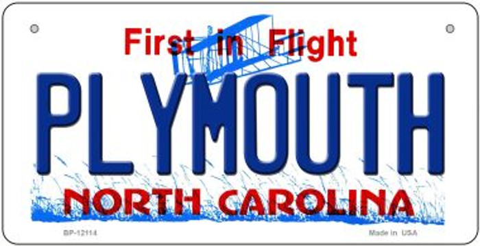 Plymouth North Carolina State Wholesale Novelty Metal Bicycle Plate BP-12114
