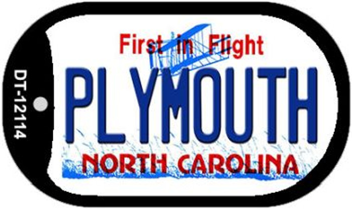 Plymouth North Carolina State Wholesale Novelty Metal Dog Tag Necklace DT-12114
