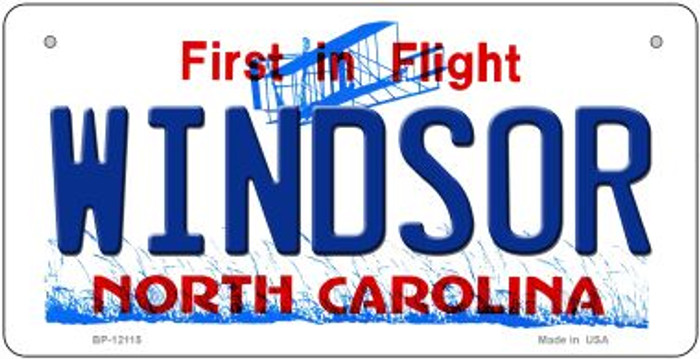 Windsor North Carolina State Wholesale Novelty Metal Bicycle Plate BP-12115