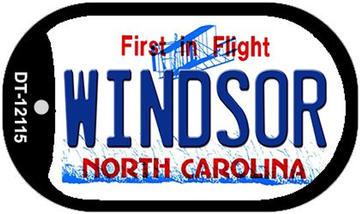 Windsor North Carolina State Wholesale Novelty Metal Dog Tag Necklace DT-12115