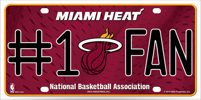 Miami Heat Fan Wholesale Metal Novelty License Plate LP-671