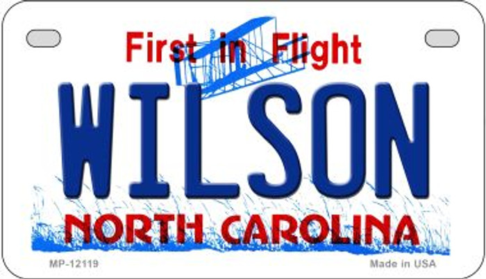 Wilson North Carolina State Wholesale Novelty Metal Motorcycle Plate MP-12119