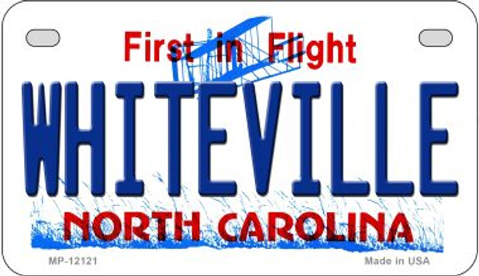 Whiteville North Carolina State Wholesale Novelty Metal Motorcycle Plate MP-12121