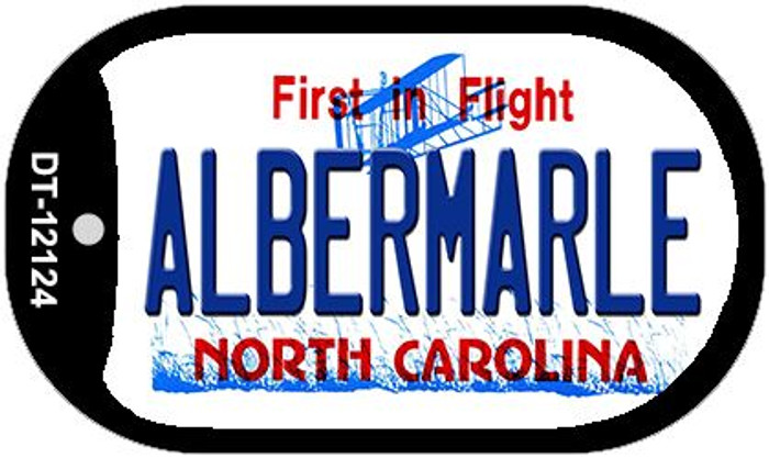 Albermarle North Carolina State Wholesale Novelty Metal Dog Tag Necklace DT-12124