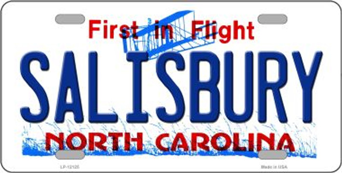 Salisbury North Carolina State Wholesale Novelty Metal License Plate LP-12125