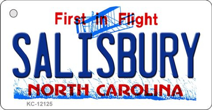 Salisbury North Carolina State Wholesale Novelty Metal Key Chain KC-12125