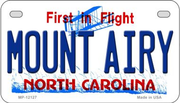 Mount Airy North Carolina State Wholesale Novelty Metal Motorcycle Plate MP-12127