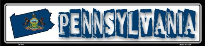 Pennsylvania State Outline Wholesale Novelty Metal Vanity Small Street Signs K-337