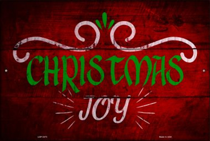 Christmas Joy Wholesale Novelty Metal Large Parking Sign LGP-2473