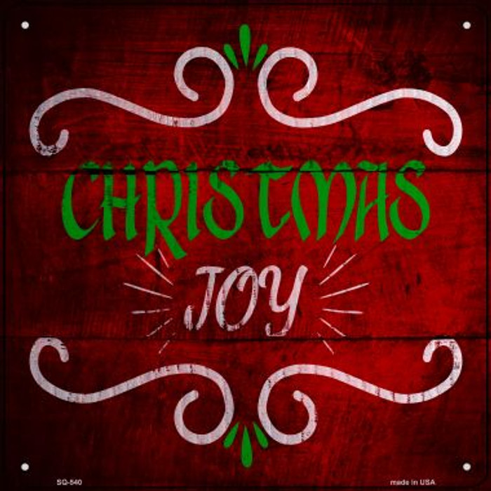 Christmas Joy Wholesale Novelty Metal Square Sign SQ-540