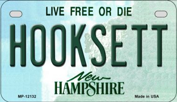 Hooksett New Hampshire Wholesale Novelty Metal Motorcycle Plate MP-12132