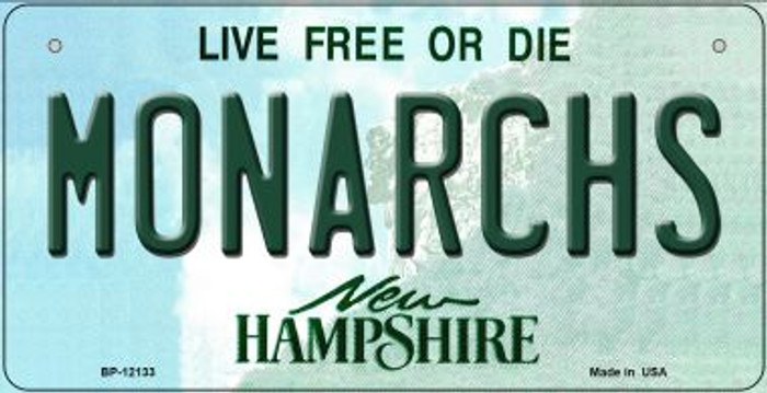 Monarchs New Hampshire Wholesale Novelty Metal Bicycle Plate BP-12133