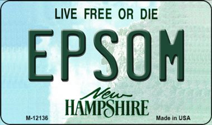 Epsom New Hampshire Wholesale Novelty Metal Magnet M-12136