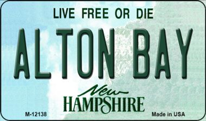 Alton Bay New Hampshire Wholesale Novelty Metal Magnet M-12138