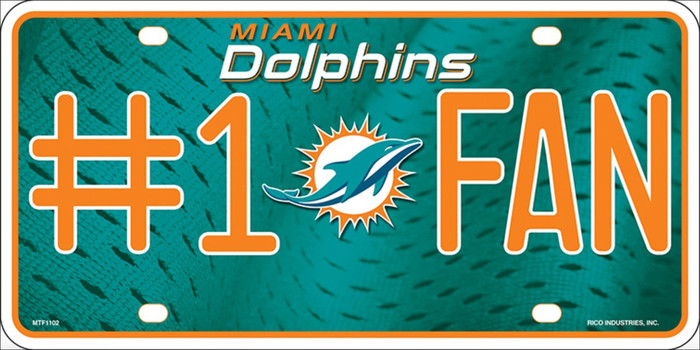 Miami Dolphins Fan Wholesale Metal Novelty License Plate LP-710