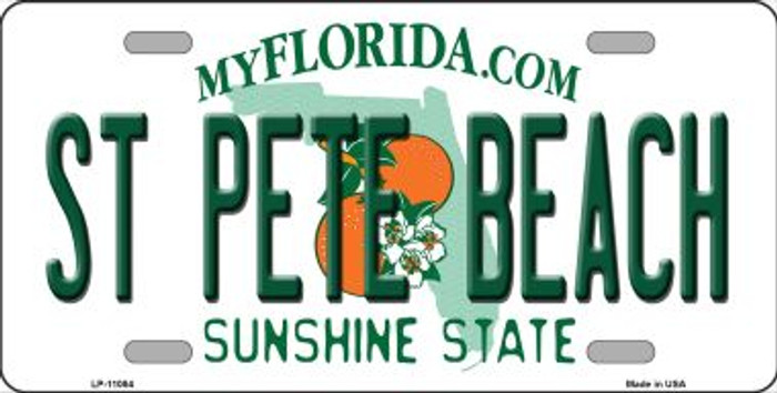 St Pete Beach Florida Background Wholesale Metal Novelty License Plate LP-11084
