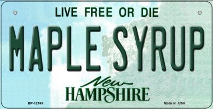 Maple Syrup New Hampshire Wholesale Novelty Metal Bicycle Plate BP-12165