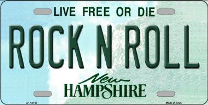 Rock N Roll New Hampshire Wholesale Novelty Metal License Plate LP-12167