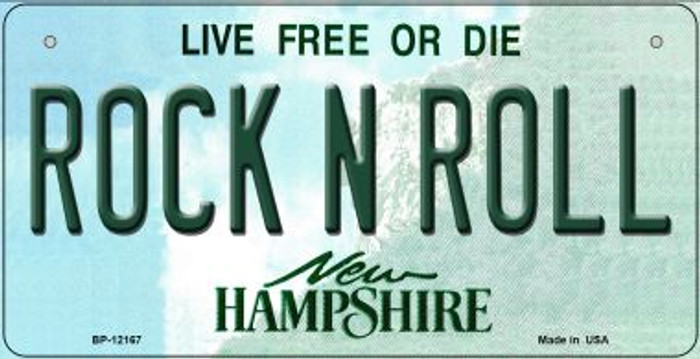 Rock N Roll New Hampshire Wholesale Novelty Metal Bicycle Plate BP-12167