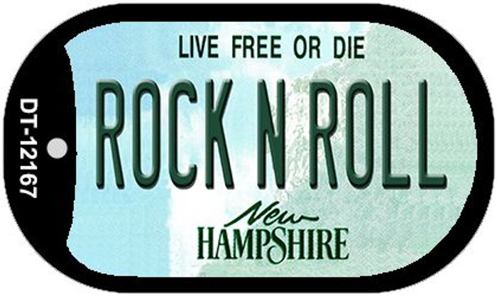 Rock N Roll New Hampshire Wholesale Novelty Metal Dog Tag Necklace DT-12167