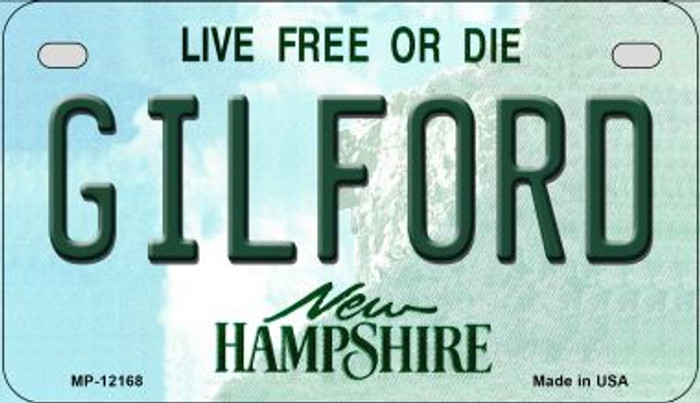 Gilford New Hampshire Wholesale Novelty Metal Motorcycle Plate MP-12168