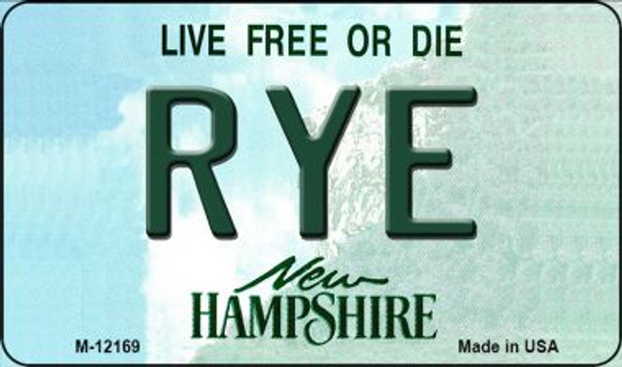 Rye New Hampshire Wholesale Novelty Metal Magnet M-12169