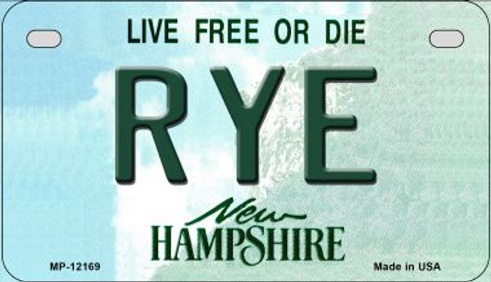 Rye New Hampshire Wholesale Novelty Metal Motorcycle Plate MP-12169