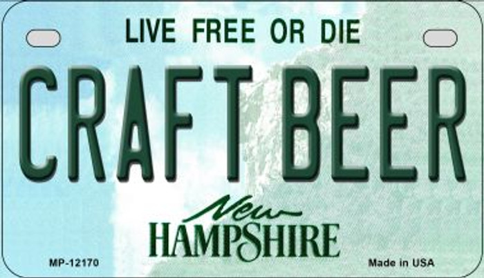 Craft Beer New Hampshire Wholesale Novelty Metal Motorcycle Plate MP-12170