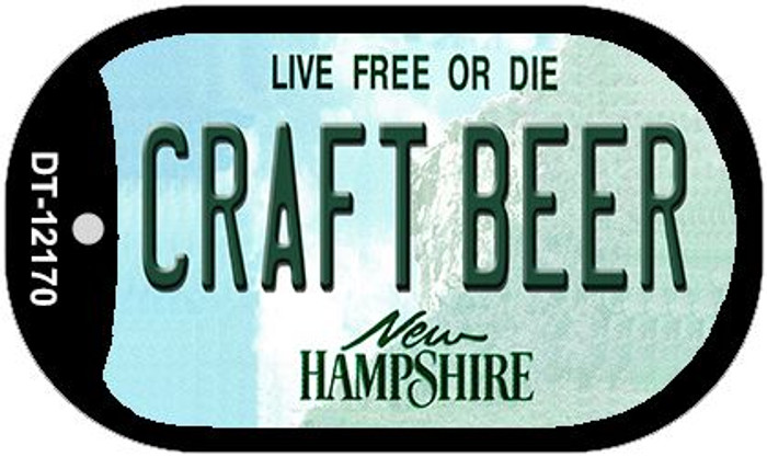 Craft Beer New Hampshire Wholesale Novelty Metal Dog Tag Necklace DT-12170