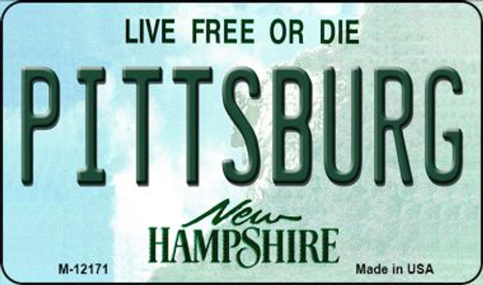 Pittsburg New Hampshire Wholesale Novelty Metal Magnet M-12171