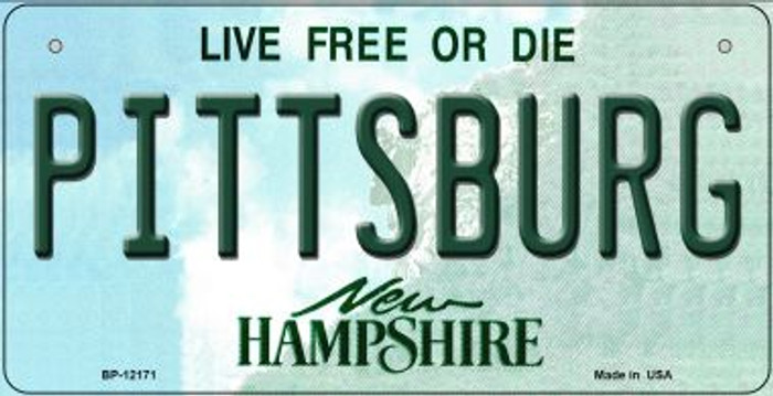 Pittsburg New Hampshire Wholesale Novelty Metal Bicycle Plate BP-12171