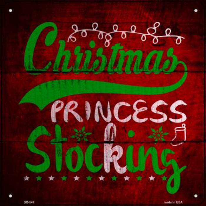 Christmas Princess Wholesale Novelty Metal Square Sign SQ-541