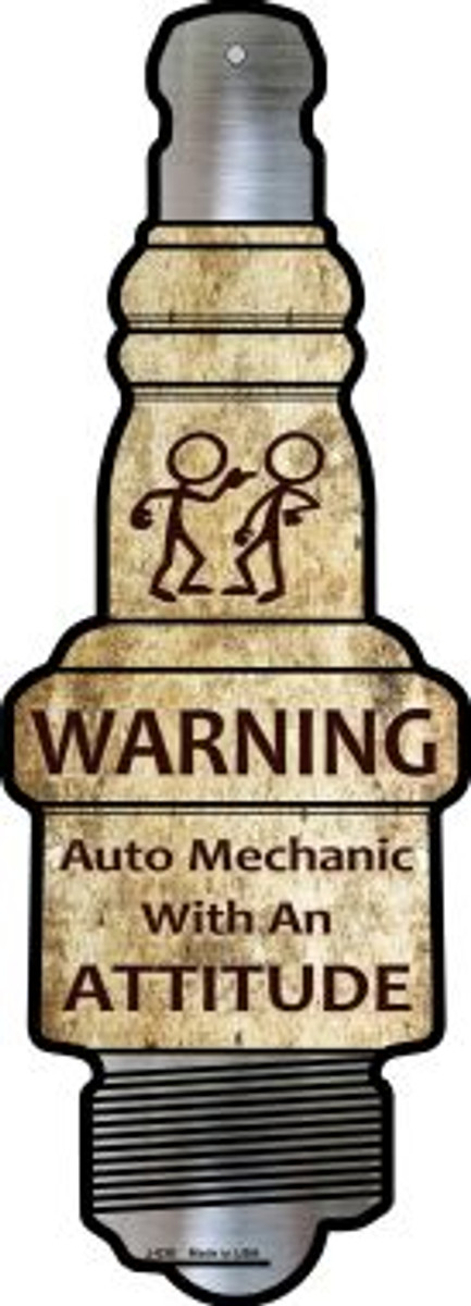 Auto Mechanic Wholesale Novelty Metal Spark Plug Sign J-038