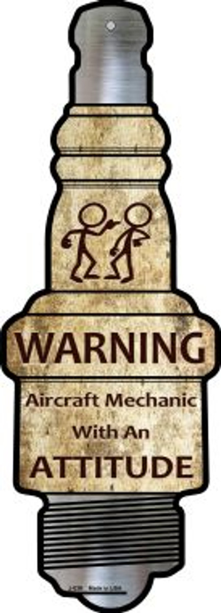 Aircraft Mechanic Wholesale Novelty Metal Spark Plug Sign J-039