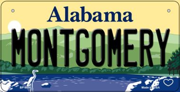 Montgomery Alabama Wholesale Novelty Metal Bicycle Plate BP-9986