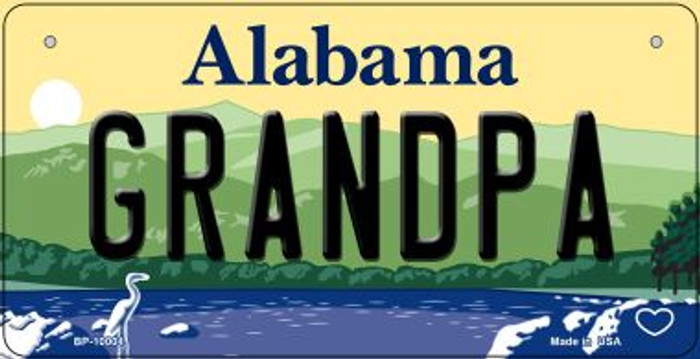 Grandpa Alabama Wholesale Novelty Metal Bicycle Plate BP-10004