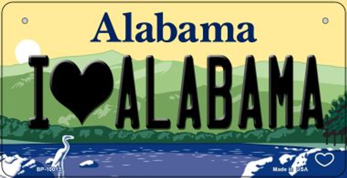 I Love Alabama Wholesale Novelty Metal Bicycle Plate BP-10013