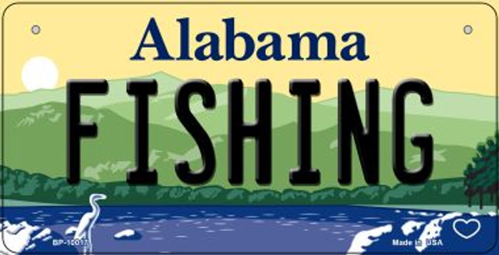 Fishing Alabama Wholesale Novelty Metal Bicycle Plate BP-10017