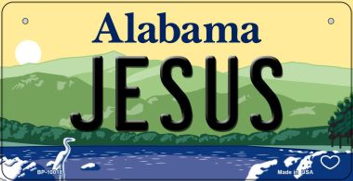 Jesus Alabama Wholesale Novelty Metal Bicycle Plate BP-10018