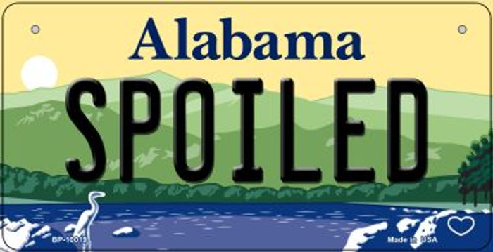 Spoiled Alabama Wholesale Novelty Metal Bicycle Plate BP-10019