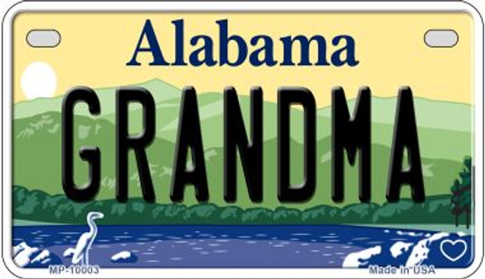 Grandma Alabama Wholesale Novelty Metal Motorcycle Plate MP-10003