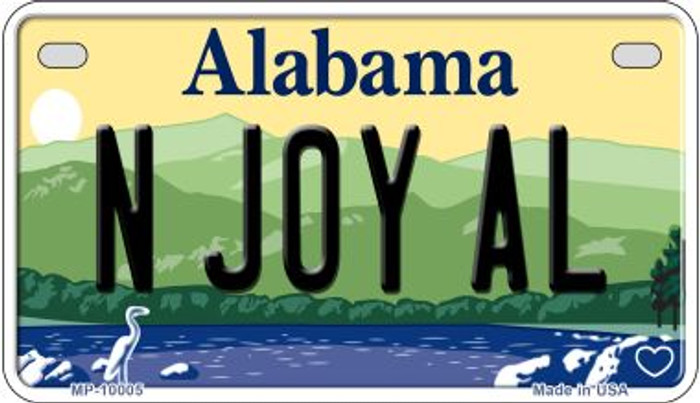 N Joy AL Alabama Wholesale Novelty Metal Motorcycle Plate MP-10005