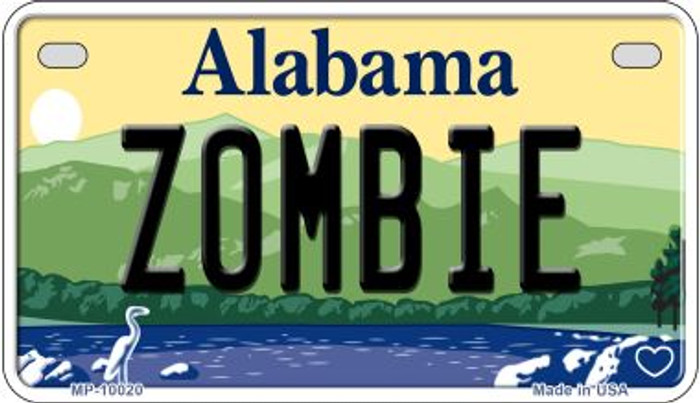 Zombie Alabama Wholesale Novelty Metal Motorcycle Plate MP-10020