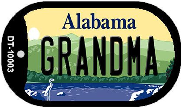 Grandma Alabama Wholesale Novelty Metal Dog Tag Necklace DT-10003